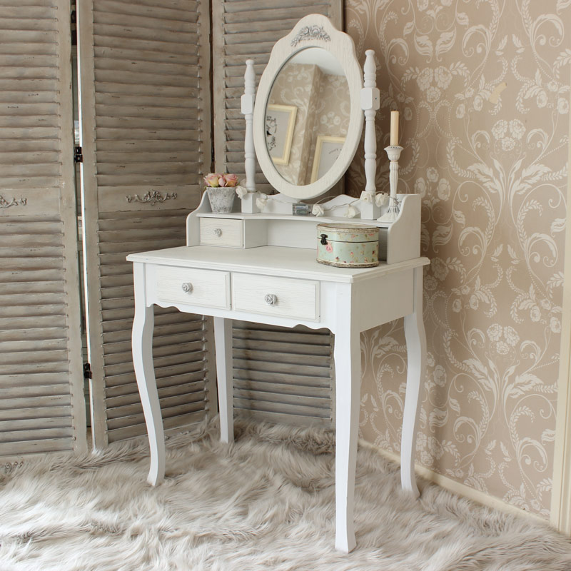 Lila Range - White Dressing Table and Mirror