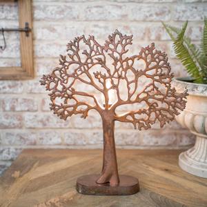 Copper Metal Tree of Life Lamp