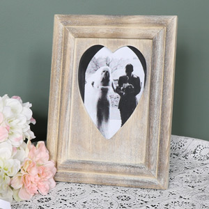 Rustic Wooden Heart Photograph Frame